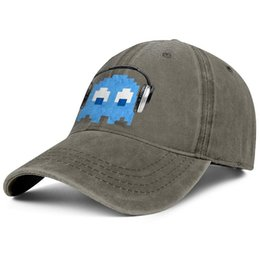 $enCountryForm.capitalKeyWord Australia - Pac-Man Rocker Inky Ghost Headphones brown mens and womens Denim hat wash snapback cap styles make your own vintage tructured Dad cap