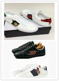 $enCountryForm.capitalKeyWord Australia - Size Big 35-48 Us13 Plus Designer Shoes Mix 15 Models Ace Top Leather Shoes Luxury Casual Shoes With Embroidered Flower Bee Tiger