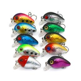 Ingrosso 3 cm 1.5g Mini Plastica Esche Da Pesca Esca Minnow Crankbaits 3D Eye Lure Artificiale Esca 10 Colori LJJZ279