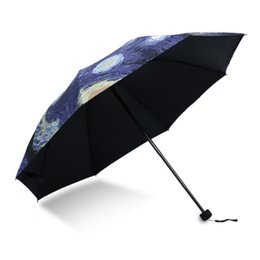 $enCountryForm.capitalKeyWord Australia - Oil Painting Umbrella Sun and Rain Anti-uv Umbrella for Men and Women Black Coating Rain Women Betty Boop 50Ry079
