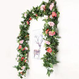 291e1c9d86 Fake Rose Vine Flores Plantas Flor Artificial Guirnalda Colgante Hogar  Hotel Oficina Boda Jardín Jardín Artesanía Arte Decoración Soporte Al por  mayor
