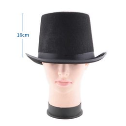 black magic hat NZ - New Traditional Felt Hat Magic Magician Caps Hats Halloween Party Costume Props Supplies SCI88