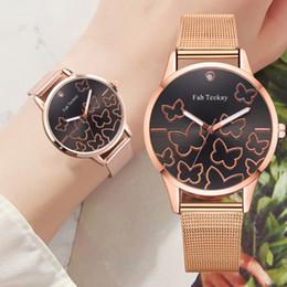 $enCountryForm.capitalKeyWord Australia - Classic Fashion Steel Mesh Belt Women Watches Butterfly Print Dial Ladies Bracelet Watch Clock Quartz Wrist Watch Reloj Mujer #W
