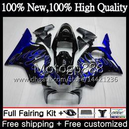 $enCountryForm.capitalKeyWord Australia - Body For HONDA CBR900RR CBR 954 RR CBR900 RR Blue flames CBR954RR 02 03 41PG6 CBR954 RR CBR 900RR CBR 954RR 2002 2003 Fairing Bodywork
