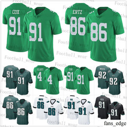 8bf6940a Philadelphia Eagles Jersey 96 Derek Barnett 91 Fletcher Cox 86 Zach Ertz 4  Jake Elliott 71 Jason Peters 62 Jason Kelce 58 Hicks Football
