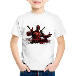 $enCountryForm.capitalKeyWord UK - Anime Print Deadpool Children Funny T-shirts Kids Cool Summer Short Sleeve Tees Boys Girls Casual Great Top Baby Clothing,HKP314