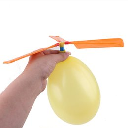 Toys Helicopter Balloons Australia - Traditional Balloon Airplane Helicopter Outdoor Sports For Kids Child Party Bag Filler Flying Toy Gift