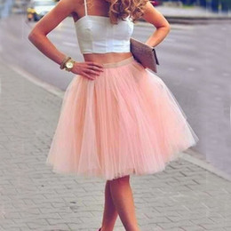 $enCountryForm.capitalKeyWord UK - Real Picture Knee Length White Tulle Tutu Skirts For Adults Custom Made A-Line Cheap Party Prom Dresses Women Under Clothing Tulle Skirts