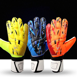 Gloves Football Goalkeepers NZ - Adult Men Top Quality without Finger Save 4MM Latex Soccer Gloves Goalkeeper Gloves Training Football Gloves