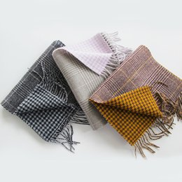 purple plaid scarf Australia - new wool plaid scarf double-sided tassel autumn and winter shawl is sweet and colorful