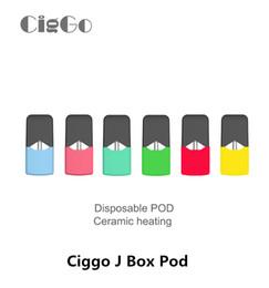 SyStem ceramicS online shopping - Ciggo J Box Pod Vape Cartridges ml Thick Oil Cartridge Ceramic Coil Disposable Pods For Pod System Vaporizer Kit Authentic