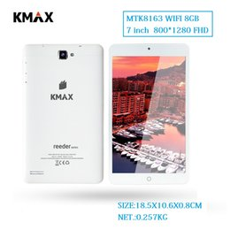 Discount tablets for reading - KMAX 7 inch Android 7.0 Wifi Tablet PC 800*1280 FHD LCD Quad Core 8GB Bluetooth Tablets 7 8 32GB TF Card for Chinldren G