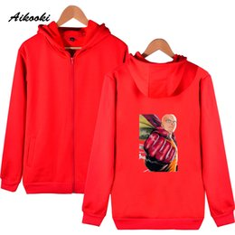 $enCountryForm.capitalKeyWord Australia - Aikooki ONE PUNCH MAN Zipper hoodies men women Fashion Cartoon Cotton High Quality Sweatshirt Hoodies Zipper men women Clothes
