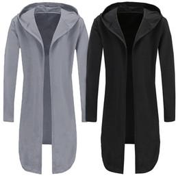 Mantle Clothes Australia - 2018 New Hip Hop Hoodies Men Long Mantle Sweatshirts Spring Fashion Hooded Hoodie Black Poncho Cloak Hoody Brand Clothing 3XL
