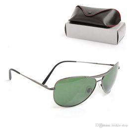 $enCountryForm.capitalKeyWord Australia - 10PCS New Mans sun glasses Brand Designer Sunglasses Glass lens Unisex Sunglasses UV400 protection sun glasses 8015 Classic Womans glasses