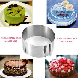 $enCountryForm.capitalKeyWord Australia - Wholesale- Practical Retractable Stainles Steel Circle Mousse Ring Baking Tool Set Cake Mould Mold Size Adjustable Bakeware 16-30cm6-12Inch