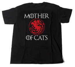 ladies game NZ - Mother Of Cats Funny T-Shirt Ladies Game Of Thrones Spoof Shirt Gift Street Tee Shirt