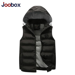 $enCountryForm.capitalKeyWord NZ - Fashion Sleeveless Jacket Mens Thickening Cotton Vest Hat Hooded Warm Vest Winter Male Waistcoats Men Casual Windbreakers J1906155
