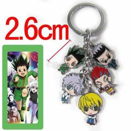 $enCountryForm.capitalKeyWord Australia - Hot! 5set Anime Style Multicolor Cartoon Hunter*hunter Character Design Keychains Metal Figures Pendants Key Chains Cool Keychain