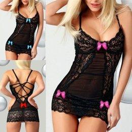 Sexy Suit Bows NZ - Fashion Women Sexy Bow Lace Racy Underwear Spice Suit Temptation Underwear 65#1809143010