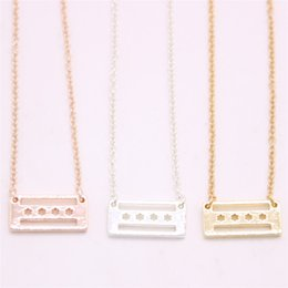 Red Rectangle Pendant Australia - Top saling Chicago flag pendant necklace rectangle with star pendant necklace designed for women