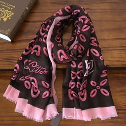 scarf sizes NZ - brand new good quality 100% cashmere material print letters pattern long scarves for women size 180cm - 95cm