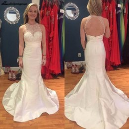 Red o neck pRom gown online shopping - Sweet O Neck Long Prom Dresses Evening Dress Custom Made Open Back Party Evening Gowns New Arrival Cheap Party Dresses