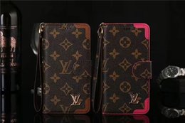 $enCountryForm.capitalKeyWord Australia - Monogram Leather Flip Wallet Bumper Phone Case With Hand Rope For Iphone XS Max XR X 8 7 6 Plus Cellphone Cover With Card Slot DHL
