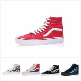 629f07b1fc Black Van Shoes Australia - 2018 vans SK8-Hi Classic Old Skool White Black  zapatillas