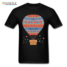 Balloon t shirt online shopping - 2019 Classic Country Indie T Shirts Mens Simple T Shirt D Graphic Hot Air Balloon Tshirt On Sale Good Quality Cotton Tops