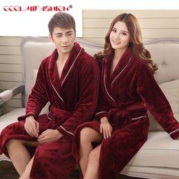7a6ca3c0a9 New Sexy Women Men Luxury Winter Bathrobe Mens Warm Silk Flannel Long  Kimono Bath Robe Male Bathrobes Lovers Night Dressing Gown