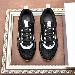 $enCountryForm.capitalKeyWord NZ - Italian design mens lace-up casual shoes Luxury design style Thick bottom Non-slip mesh casual men shoes Original LOGO men shoes Drop Ship