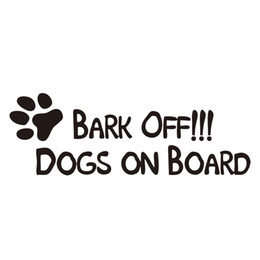 Boat Wall Stickers Australia - Dog Walking On The Boat Funny Dog Applique Vinyl Graphic Wall Sticker Personality Accessories Decoration