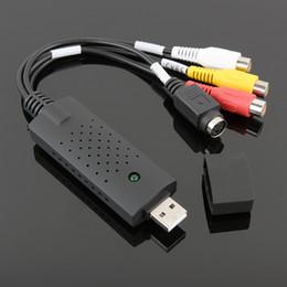 Adaptateur de périphérique de carte de capture audio vidéo USB 2.0 VHS Magnétoscope Prise en charge du convertisseur de télévision en DVD Win Xp / Vista / 7/8/10 en Solde