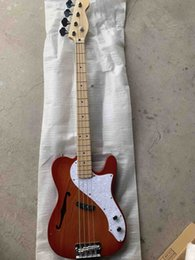 strings for bass guitar Canada - Custom Wholesale New 4 Strings Tels electric Bass Guitar In Cherry Burst Free Shipping