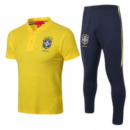$enCountryForm.capitalKeyWord Australia - wholesale 18 19 new Brazil Polo shirts 2019 Brasil yellow tracksuit Gesus soccer jersey Firmino Coutinho short sleeve training suit