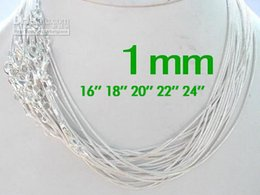 925 silver chains Australia - Promotion Sale 925 Sterling Silver Smooth Snake Chain Necklaces Jewelry 1.0mm 16'' 18'' 20'' 22'' 24'' Mix Free