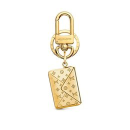 car lock plates Australia - Designer Fashion Accessories LOVE NOTE ENVELOPE Bag and Keychain Car Key Accessories Couple Accessories Monogram Pattern