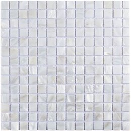 "Square Kitchen Designs Australia - Oyster Mother of Pearl Square Shell Mosaic Tile for Kitchen Backsplashes, Bathroom Walls, Spas, Pools 12"" X 12"" Pack of 6"