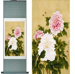 scroll paintings Australia - Penoy Flowers Painting Home Office Decoration Chinese Scroll Painting Chinese Flower Paintingprinted Painting