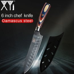 japanese kitchen tools UK - XYj VG10 Damascus Kitchen Knife Accessories Wood Handle 67 Layer Japanese Damascus Cooking Knife Tools With Free Knife Cover