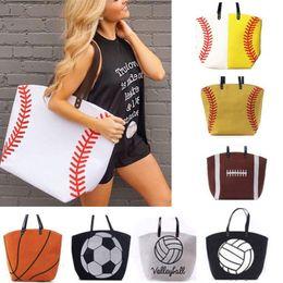 $enCountryForm.capitalKeyWord Australia - Large Capacity Softball Bags Canvas Softball Handbag Baseball Tote Sports Bags Fashion Bag Football Soccer Basketball Canvas Bag DHL