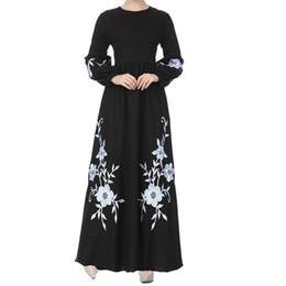 26a963961c Womens Muslim Chiffon Long Sleeve Long Maxi Dress Vintage Dresses l0531