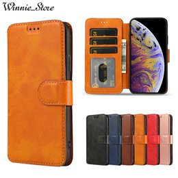 Iphone 5s Flip Case Magnetic Australia - Leather Magnetic Case For iPhone XS MAX XR X 5s SE 6 6s 8 7 Plus Flip Wallet Retro Card Holder Stand Cover