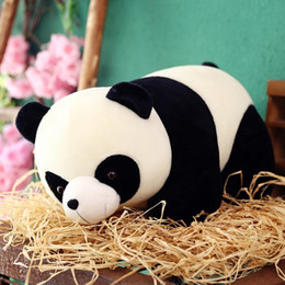 cartoon lizard Australia - Cute Baby Big Giant Panda Bear Plush Stuffed Animal Doll Animals Toy Pillow Cartoon Soft Kawaii Dolls Girls Kids Birthday Gifts