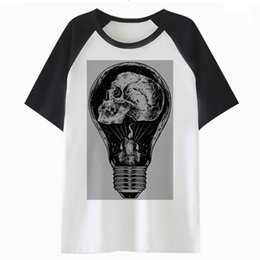 hip hop clothing for wholesale UK - Bulb t shirt tee men hop for harajuku clothing top funny tshirt male hip streetwear t-shirt d08