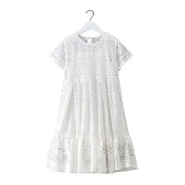 Summer Dresses For Teenage Girls Australia - 8 - 16 Yrs Teenage Summer White Lace Long Dress Elegant Princess Gown 2018 New Party Clothes Kids Dresses For Big Girls J190514