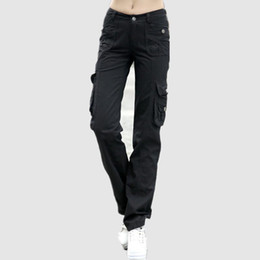 $enCountryForm.capitalKeyWord UK - Military 100% Cotton Cargo Pants Women Loose Camouflage Trousers Females Summer Casual Baggy Pants Ladies black Khaki