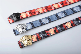 $enCountryForm.capitalKeyWord Canada - Brand best new listing belt Solid Buckle printing casual Color belts for men and women fashion strap Jeans Trend belt gift wholesale