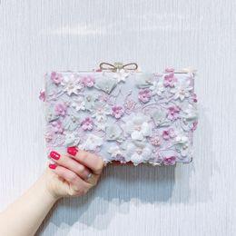 $enCountryForm.capitalKeyWord Australia - Elegant Ladies Evening Flap Pearl Flower Clutch Bag with Chain Shoulder Tote Bag Women's Handbag Purse Wallets for Wedding Party